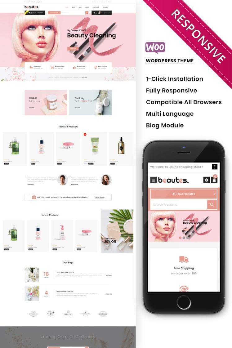 Beautes The Mega Cosmetic Store WooCommerce Theme