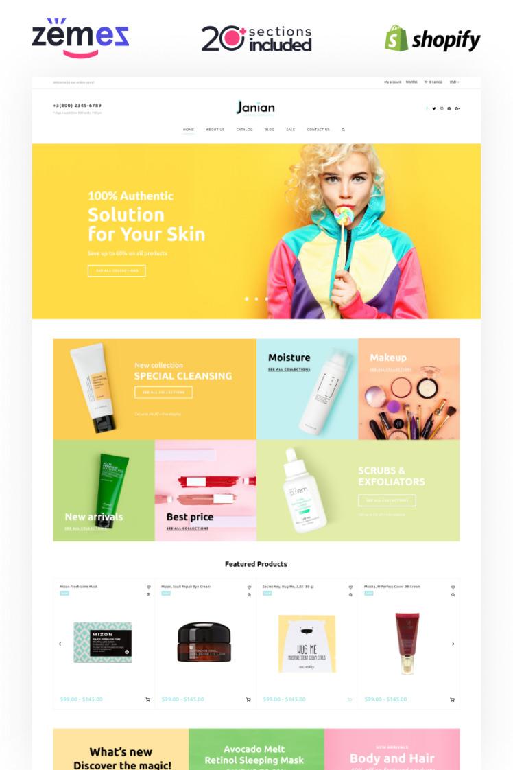 Janian Korean Cosmetics Online Store Shopify Theme