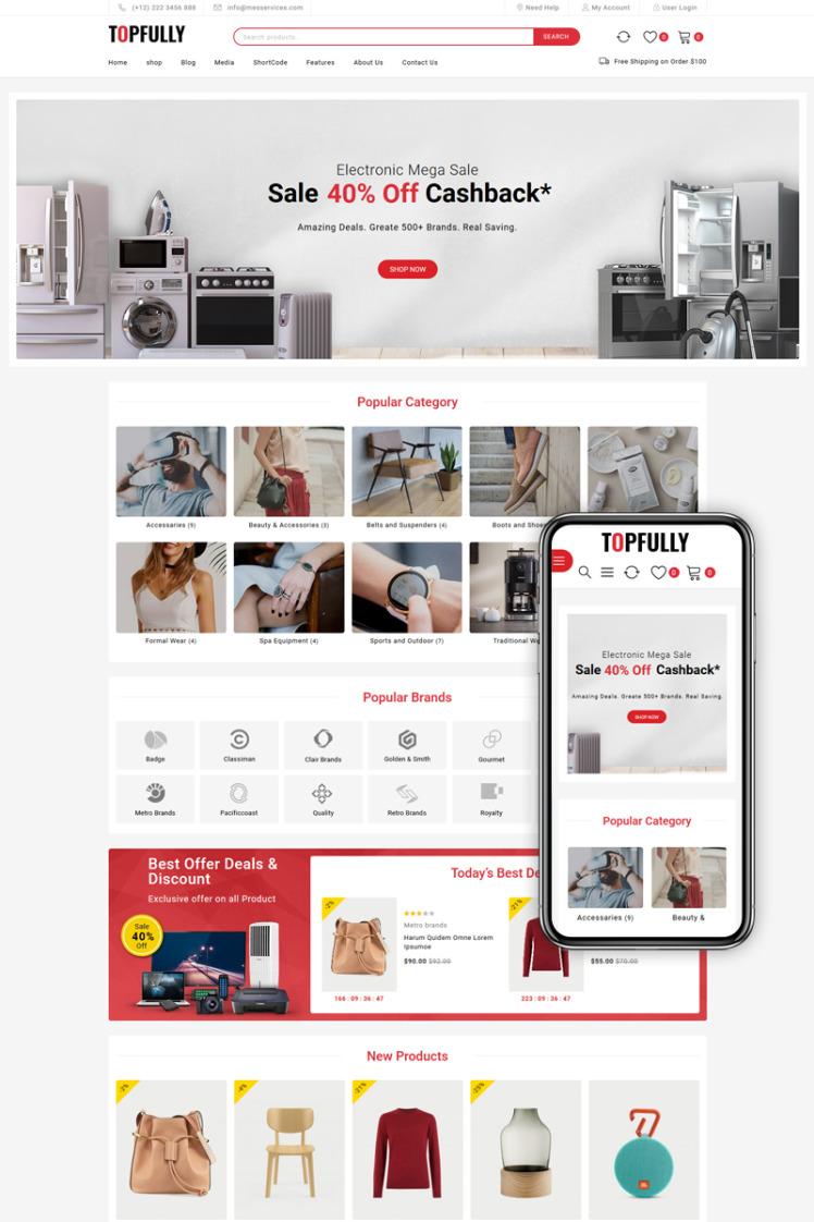 TopFully Multipurpose WooCommerce Theme