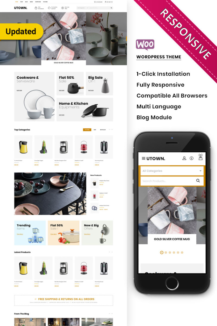 Utown The Mega Kitchen Store Premium WooCommerce Theme