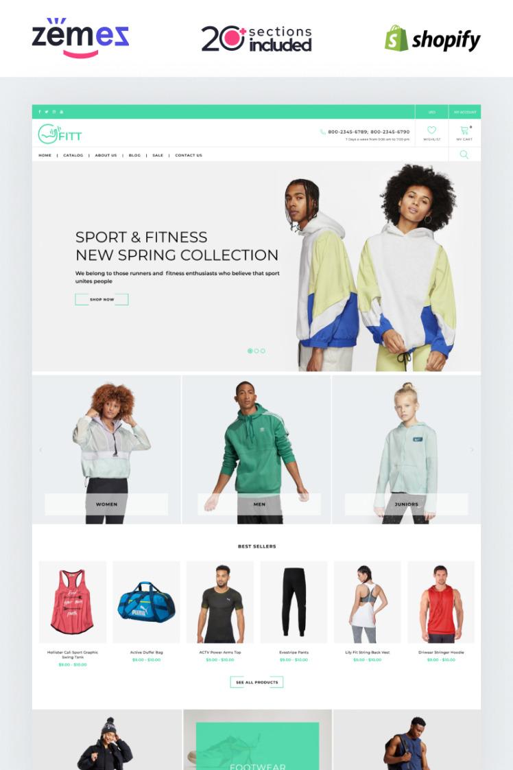 Fitt Fitness Online Website Template Shopify Theme