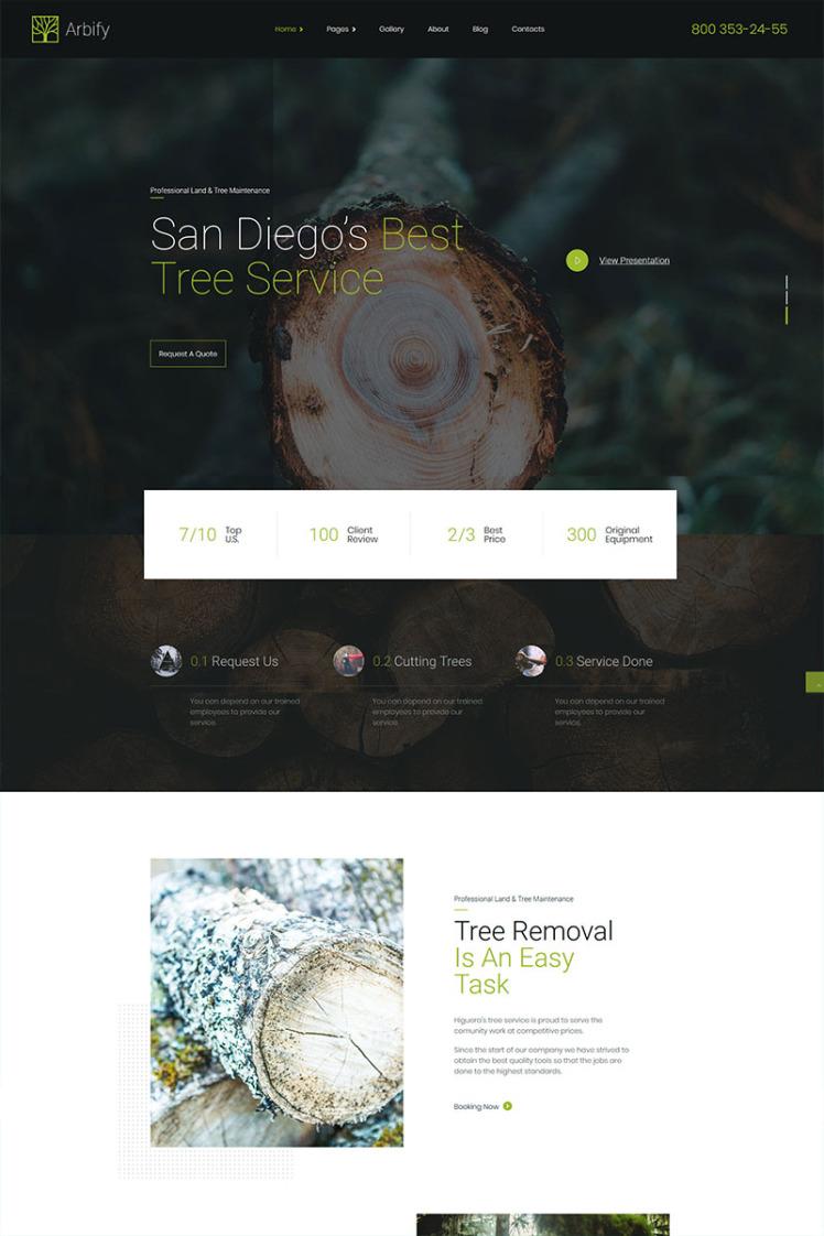 Arbify Arborist and tree trimming service WordPress Theme