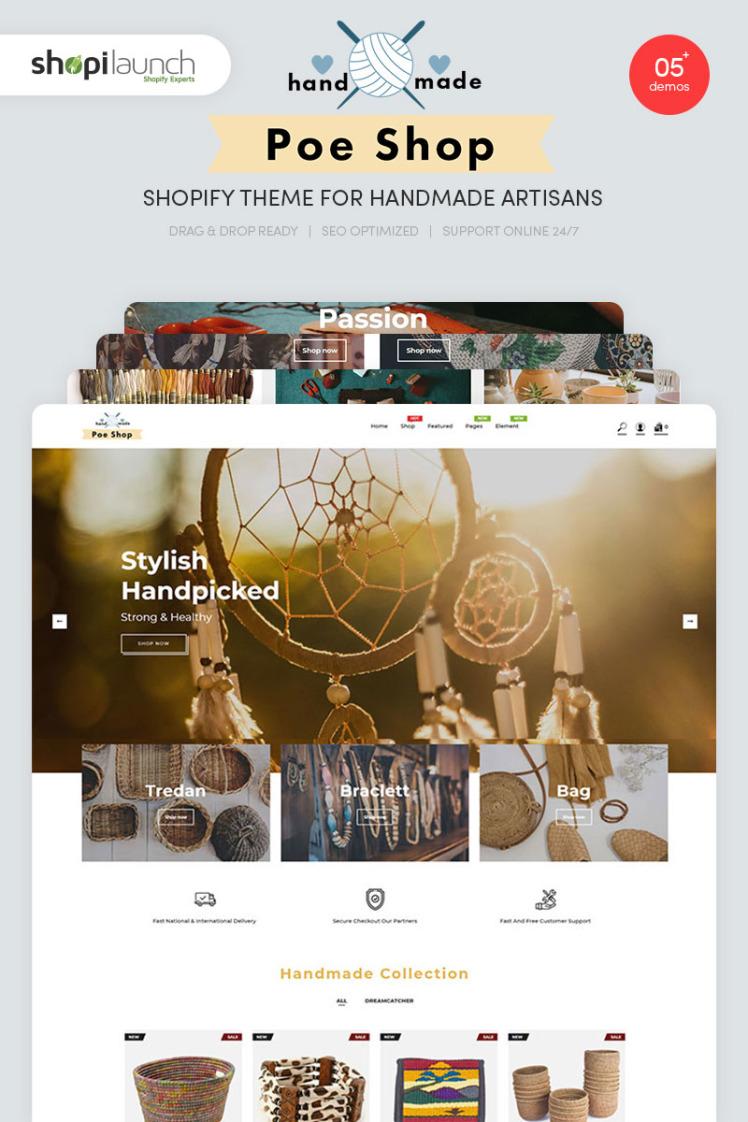 PoeShop Handmade Artisans Shopify Theme