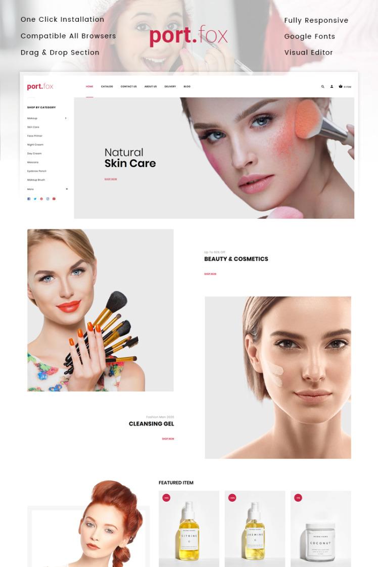 Portfox Cosmetics Store Shopify Theme