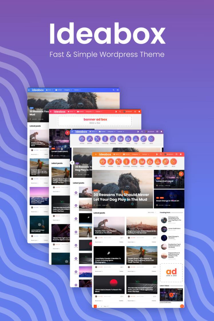 Ideabox Blog and Magazine WordPress Theme