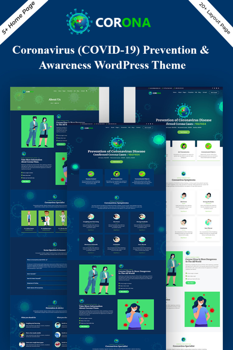 Corona Covid Prevention WordPress Theme