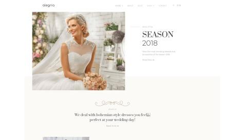 Alegria - Wedding Salon Elementor WooCommerce Theme