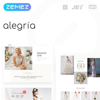 Thème WooCommerce adaptatif  pour site de boutique de mariage