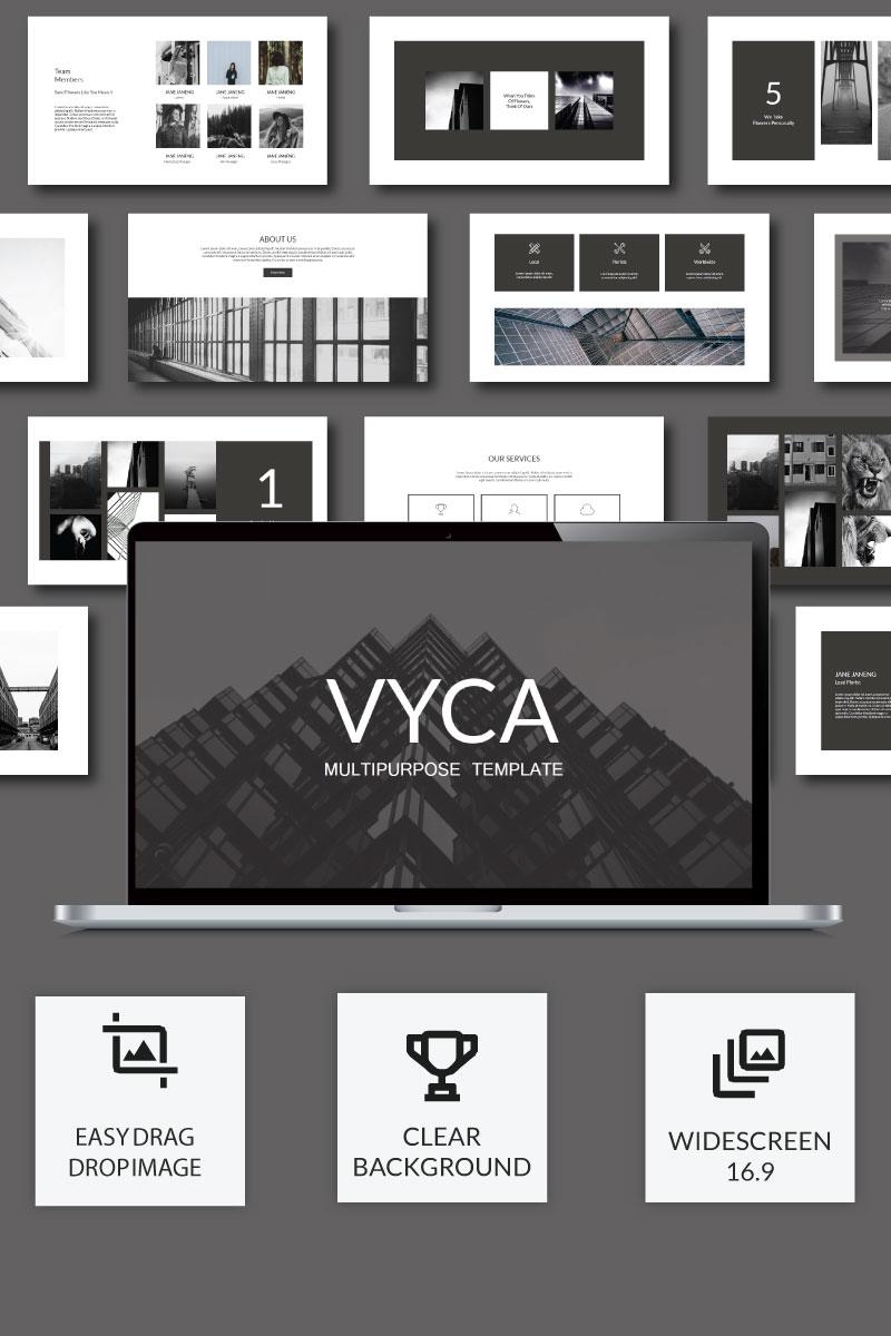"""Luxusní PowerPoint šablona """"Vyca Presentation"""" #74912"""