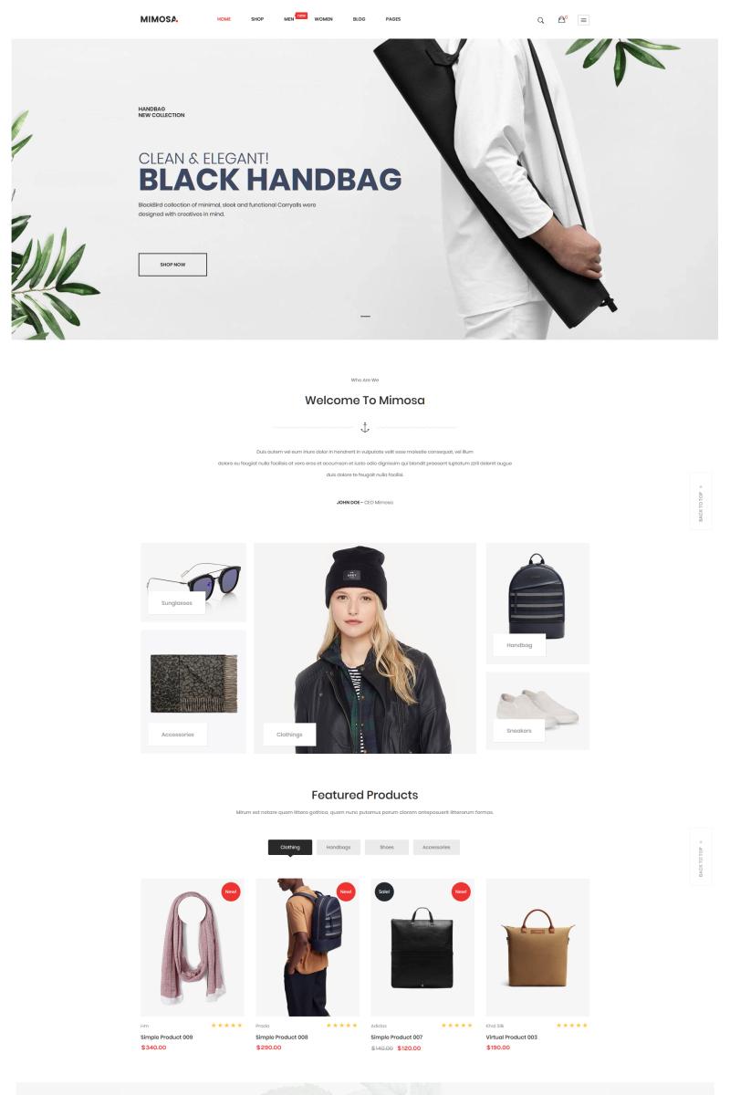 Mimosa - Fashion WooCommerce WordPress Theme №74982
