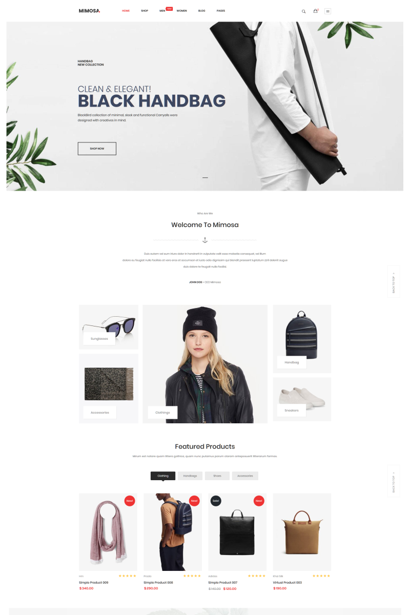 Mimosa - Fashion WooCommerce WordPress Theme Tema WooCommerce №74982