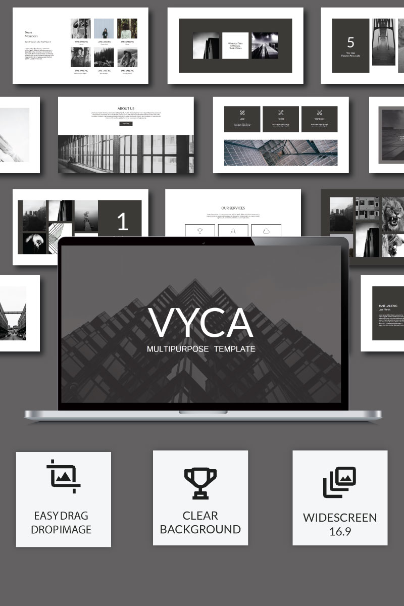 Prémium Vyca Presentation PowerPoint sablon 74912 - képernyőkép