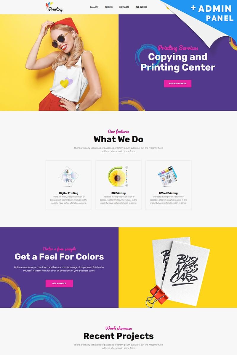 Printing Company Landing Page Template