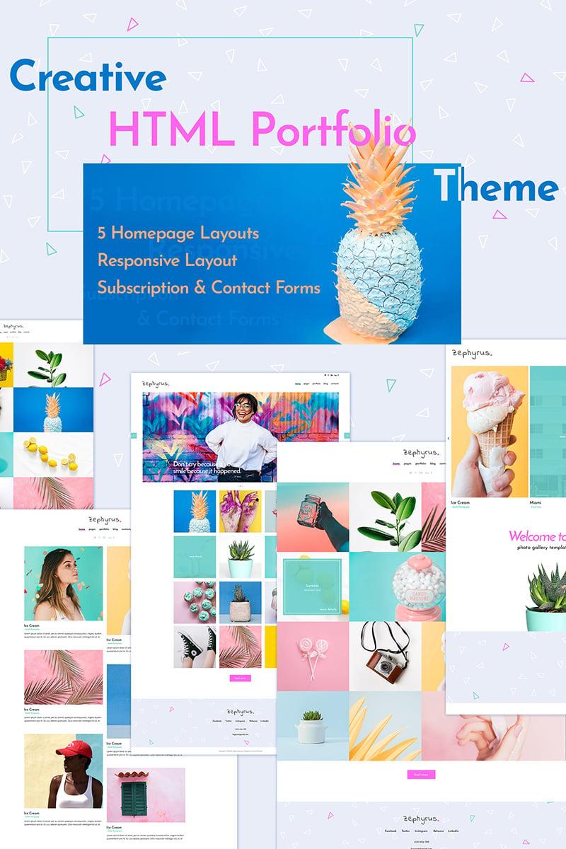 Zephyrus - Creative  HTML Portfolio Hemsidemall #74913