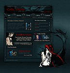 Flash: Entertainment Society & Culture Flash Site Most Popular Halloween Templates Black Templates