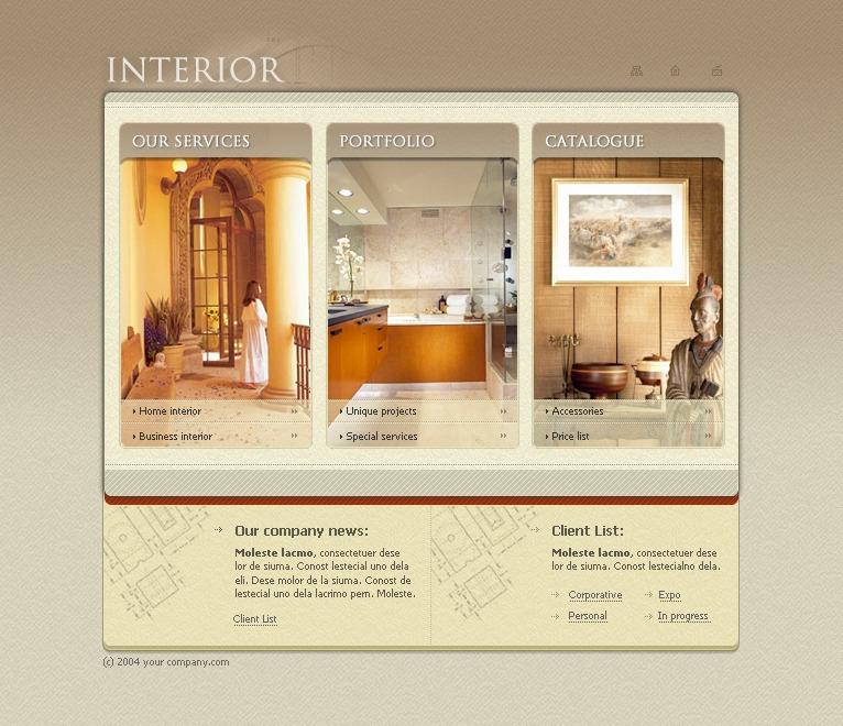 Interior Design Flash Template 19551: Interior Design Flash Template #7556