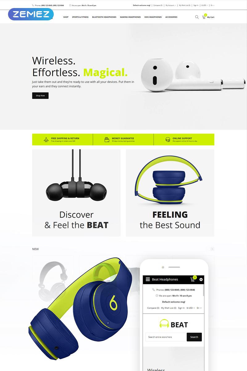 Beat - Headphones Store OpenCart Template
