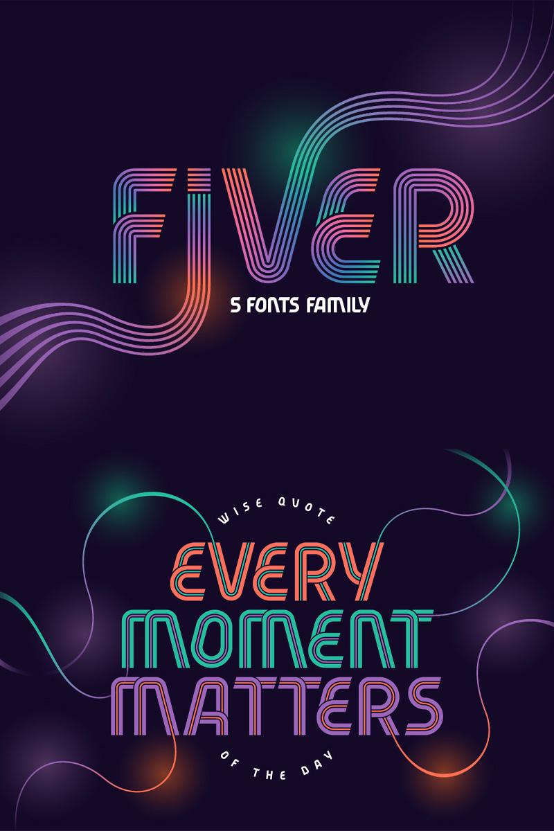 Fiver 5 Fonts Family Font