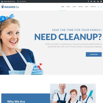 Washer Co - Cleaning Services Joomla Template #75191