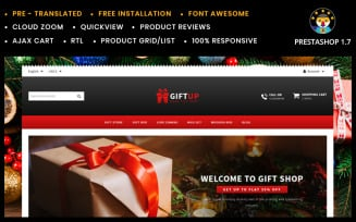GiftUp - Flowers & Gift shop PrestaShop Theme