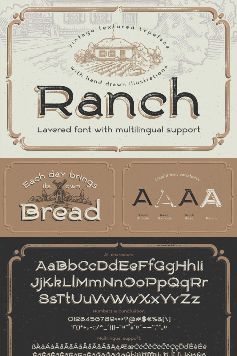 Ranch Vintage Font