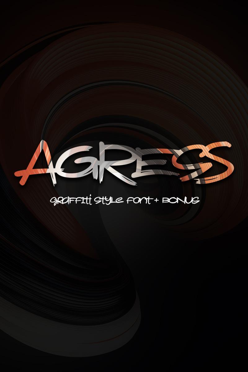 """Agress"" Lettertype №75297"