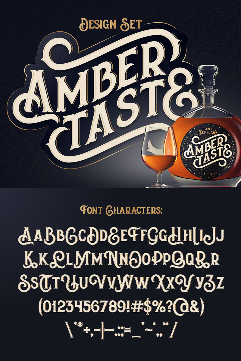"""Amber Taste"" police de caractère  #75299"