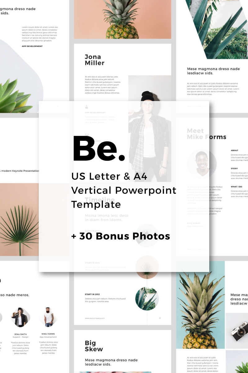 Be - Vertical PowerPoint Template