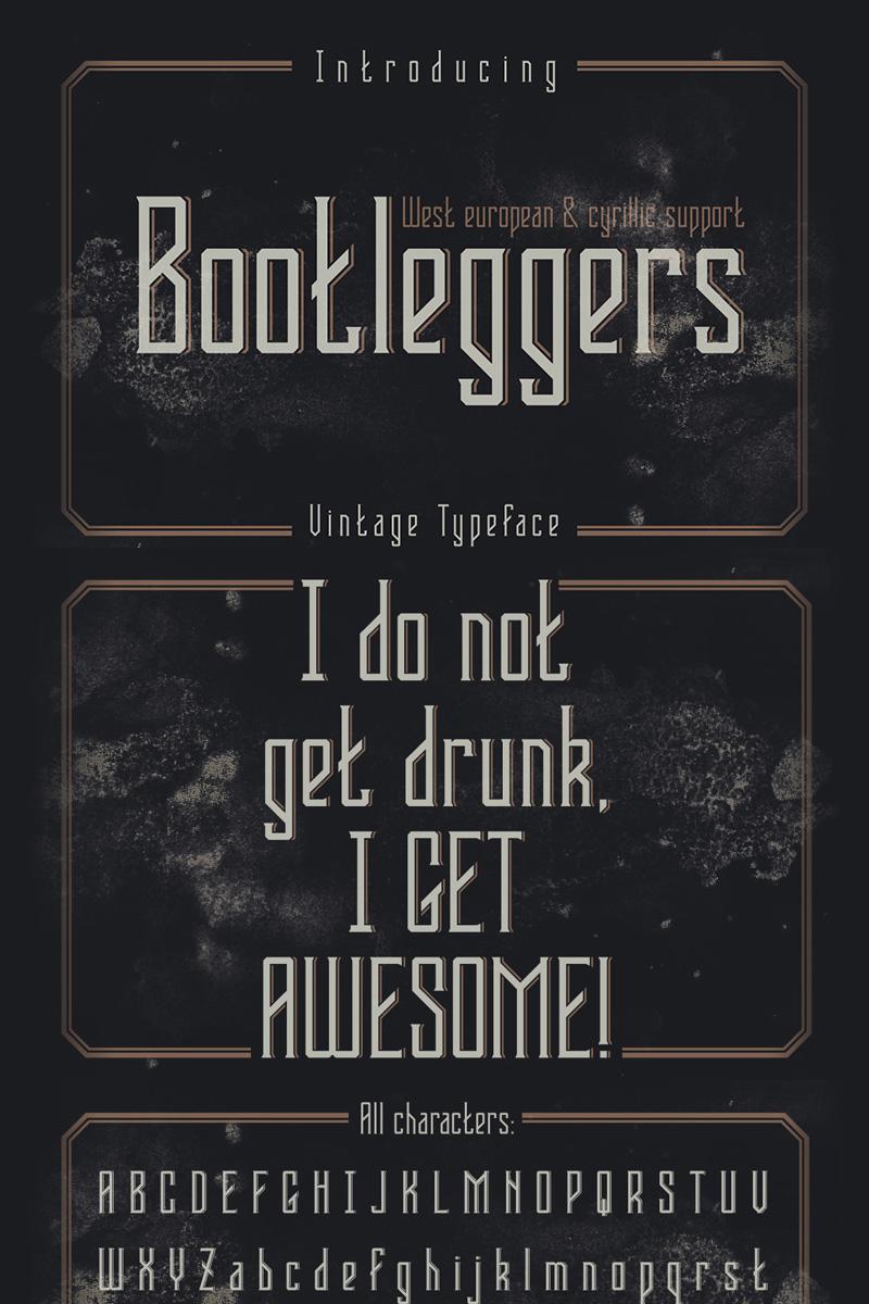 """""""Bootleggers"""" police de caractère  #75294"""