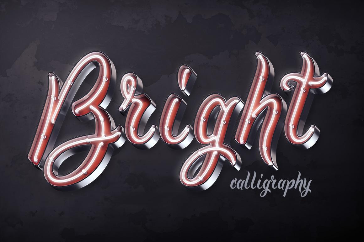 Bright Calligraphy PSD Yazıtipi #75295