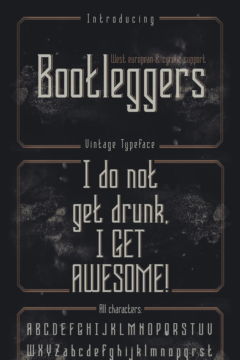 "Font ""Bootleggers"" #75294"