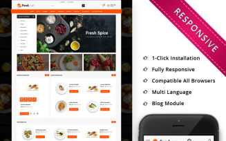 Foodcue - The Fastfood Store Responsive OpenCart Template