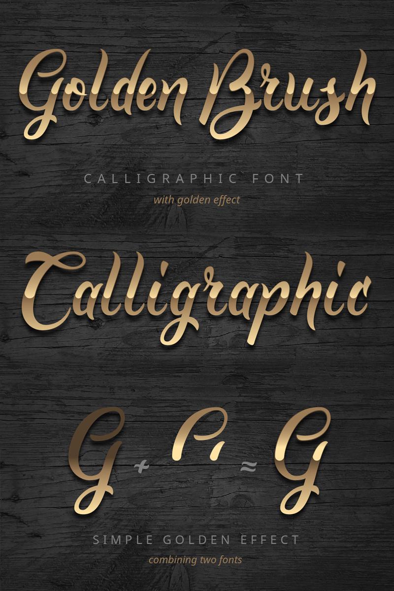 Golden Brush Font #75251