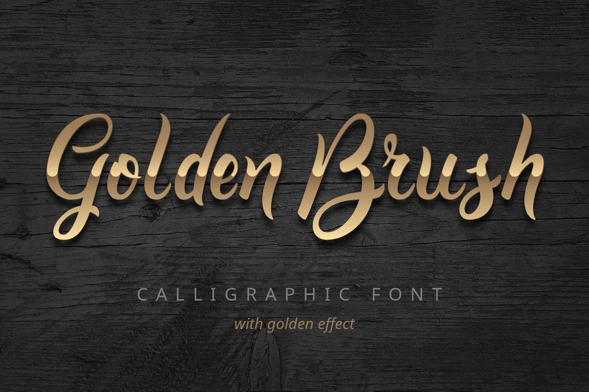 Golden Brush Yazıtipi #75251