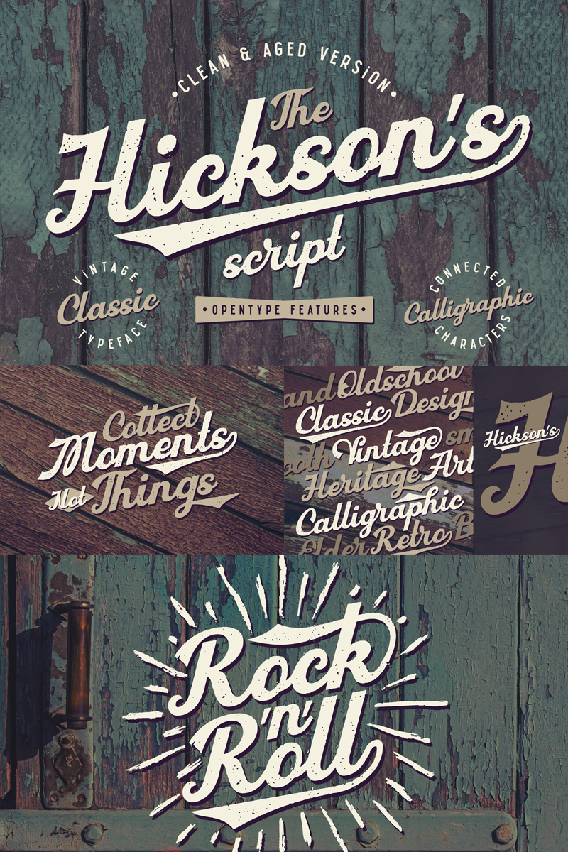 Hickson's Script + Bonus Font - screenshot