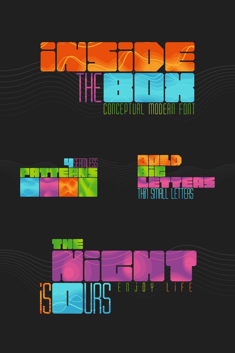 Inside the BOX Font & Patterns Font