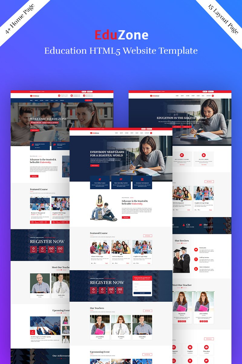 "Landing Page Template namens ""Eduzone - Education"" #75284"