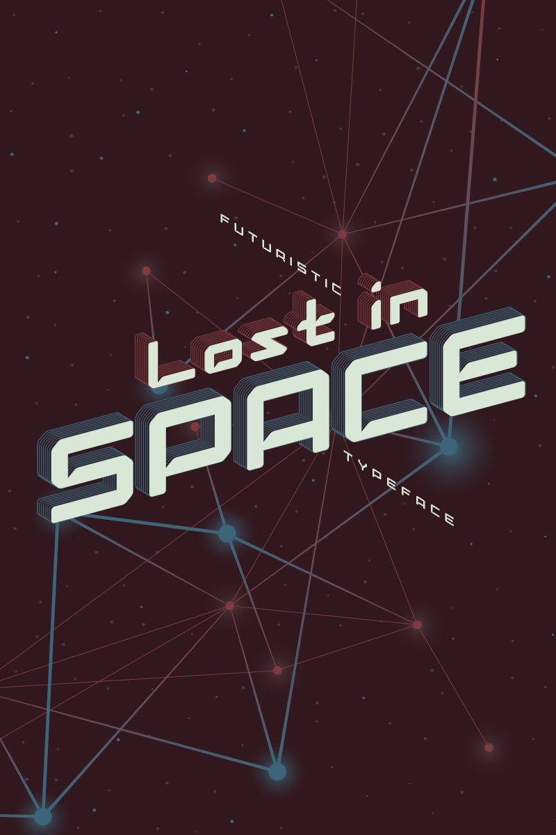 """""""Lost in Space"""" Lettertype №75293"""