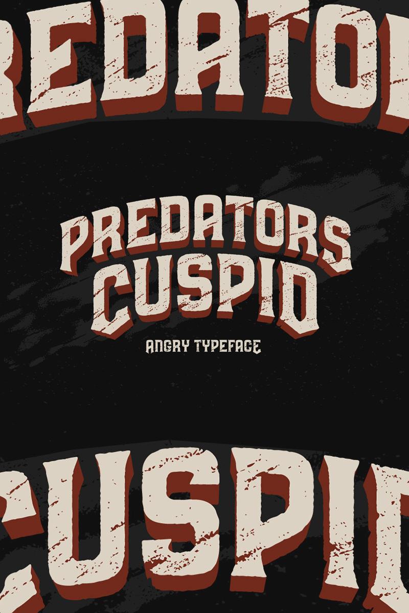 Predators Cuspid Font #75291
