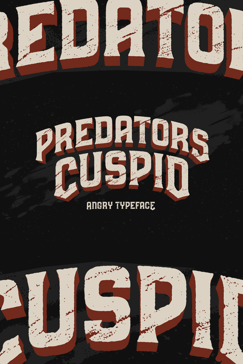 """Predators Cuspid"" Lettertype №75291"