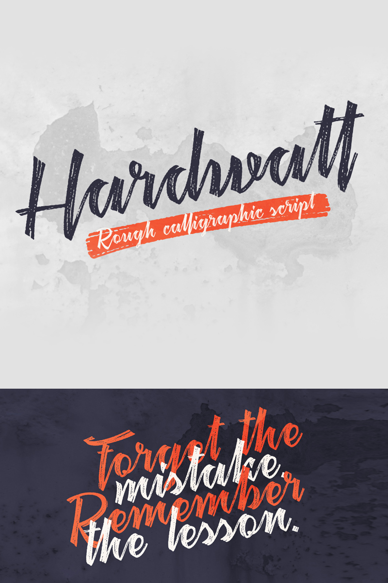 """Schriftart namens """"Hardwatt Script"""" #75283"""