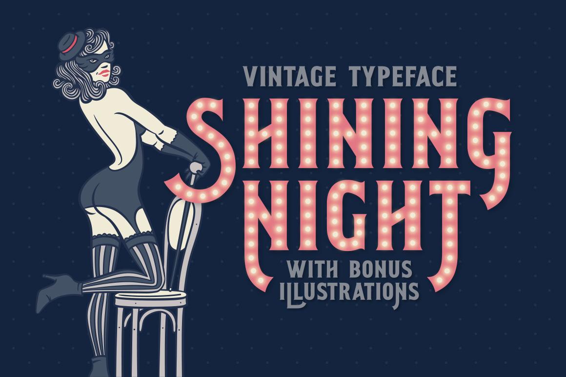 Shining Night Font