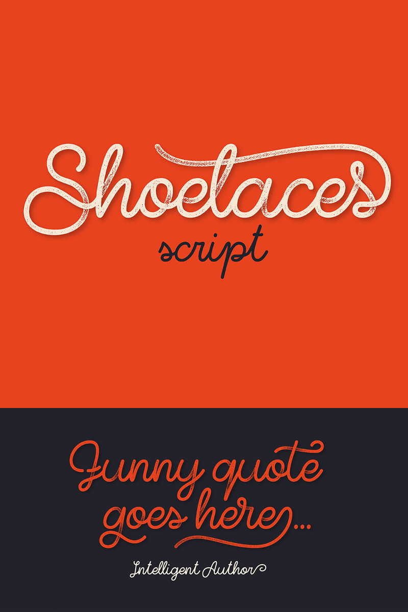 """Shoelaces"" Lettertype №75278"