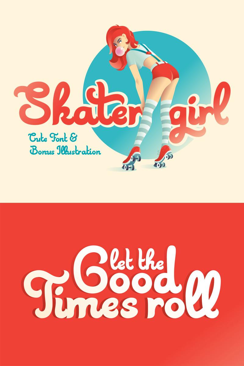 Skater Girl font + Bonus Font