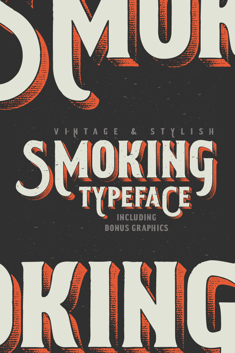 Smoking Typeface + Illustration Font #75274