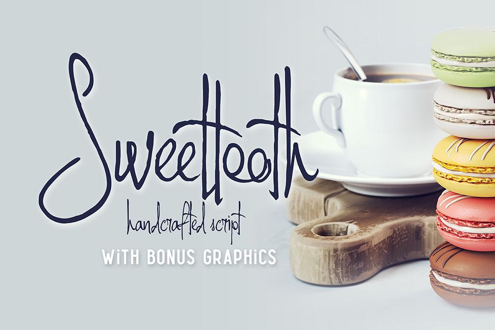 Sweettooth Script & Bonus Yazıtipi #75290