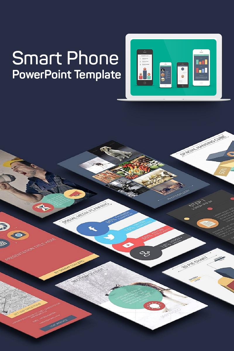 Szablon PowerPoint Flat - Smart Phone #75220