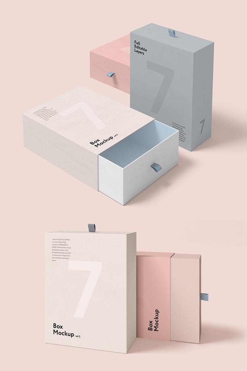 """""""Box  Set"""" maquette de produit Premium #75308"""