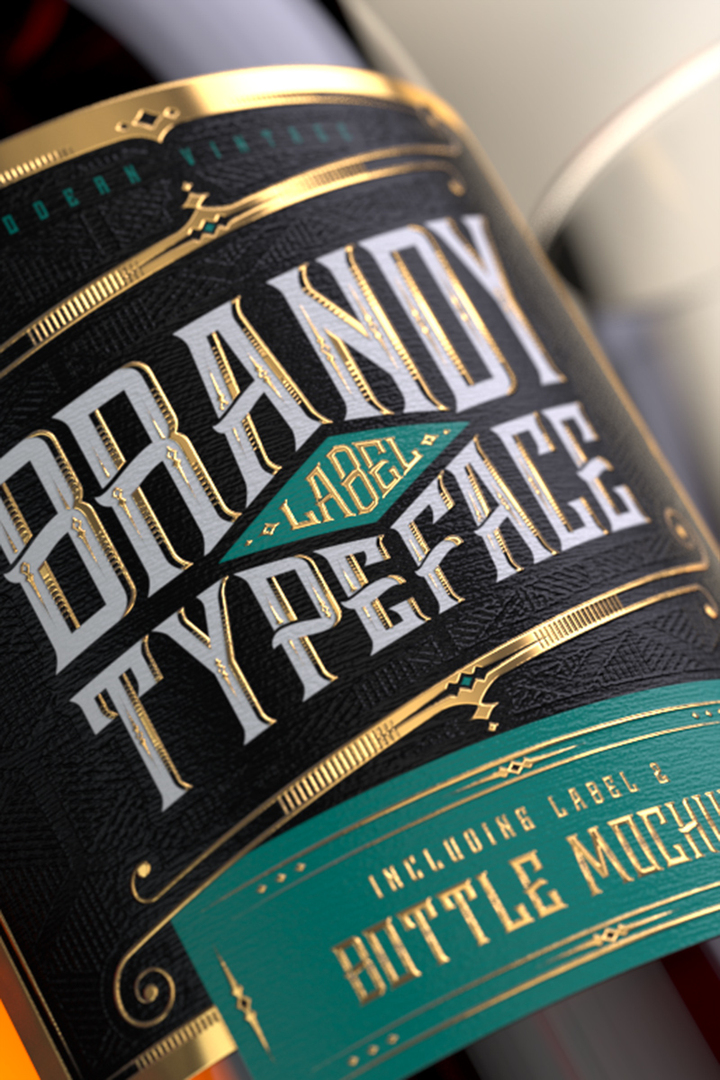 """Brandy Design Set"" Lettertype №75300"