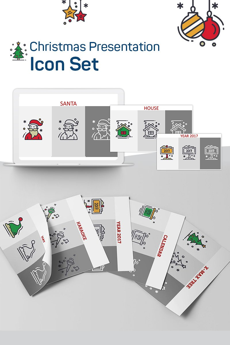 Christmas Presentation PowerPoint Iconset Template